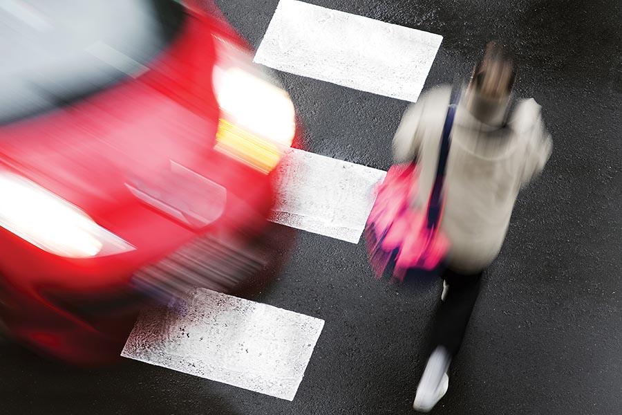 Vehicle Running Red Light by Pedestrian