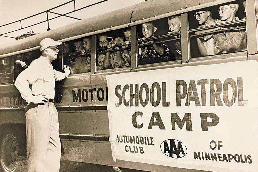 Historical Photo of School Patrol Campgoers