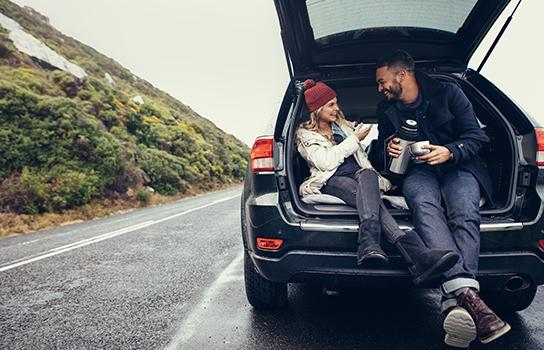 Couple in a Vehicle