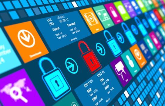 Digital data security graphic