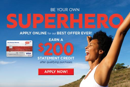 Apply Online for our Best Offer Ever Earn a 200 Dollar Statement Credit after Qualifying Purchases