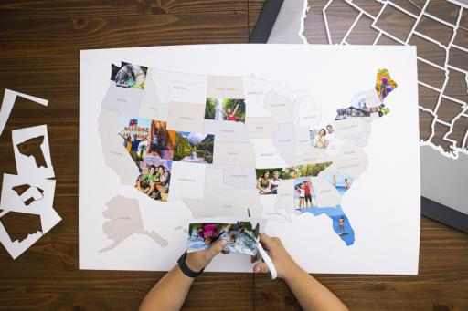 Personalized United States photo map