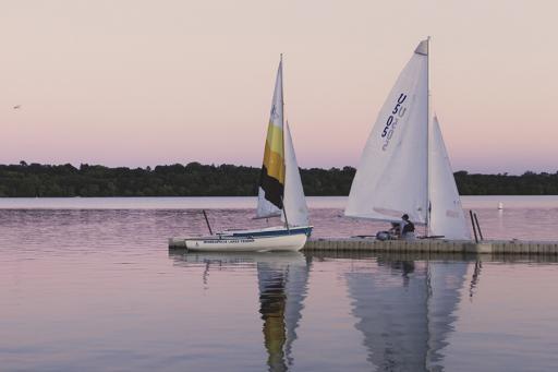 Sail Boats on Lake Harriet in Minneapolis Minnesota