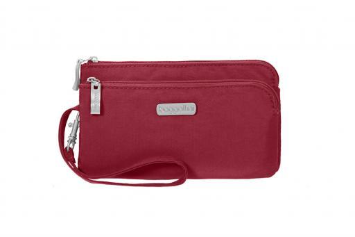 Baggallini RFID Double Zip Travel Wallet