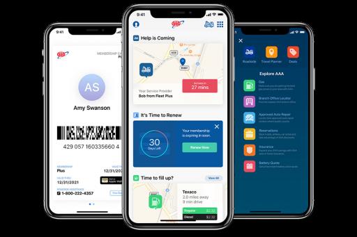 AAA Mobile App TripTik Planner