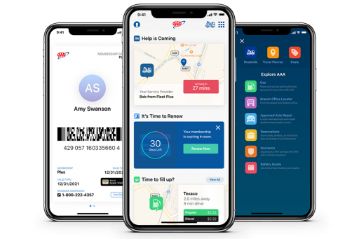 AAA Mobile App Download for Requesting Tow Truck Roadside Assistance