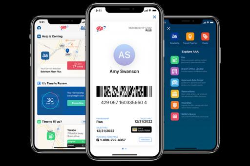 AAA Mobile App with Digital Membership Card