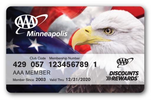 Patriotic AAA Membership Card