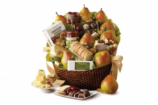 Harry & David basket filled with treats