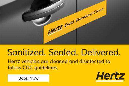 Sanitized - Sealed - Delivered - Hertz Gold Standard Clean - Reserve Now