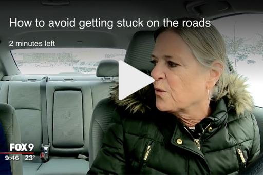Video Thumbnail for Fox 9 Story How to Avoid Getting Stuck on the Road