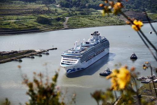 Cruise Ship in the Panama Canal