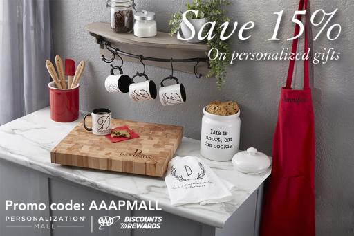 Save 15 percent on personalized gifts at Personalization Mall