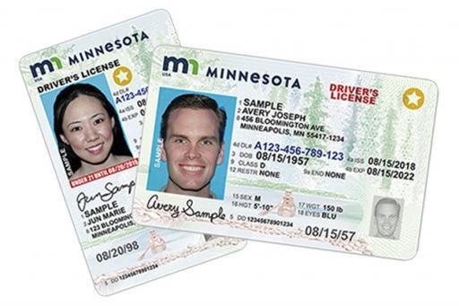REAL ID Minnesota License Cards