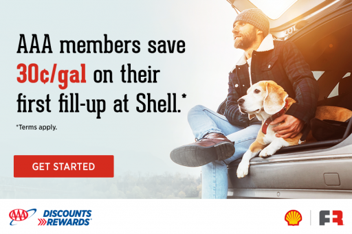 AAA members save on their first fill-up at Shell - learn more