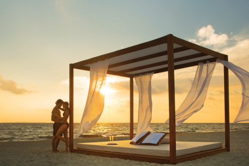 Couple on a Beach at a Resort