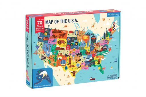 USA Map Puzzle Educational Gift Idea