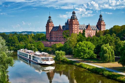 Viking River Cruise Boat in Europe