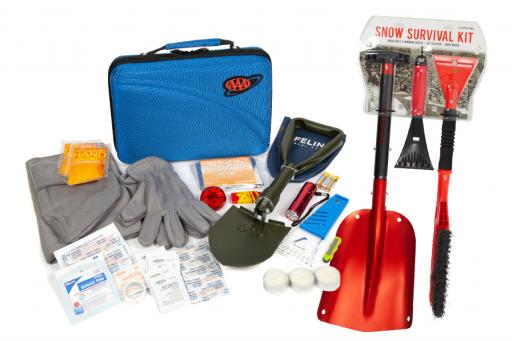 Winter Car Gear Survival Kits Shovels and Scrapers