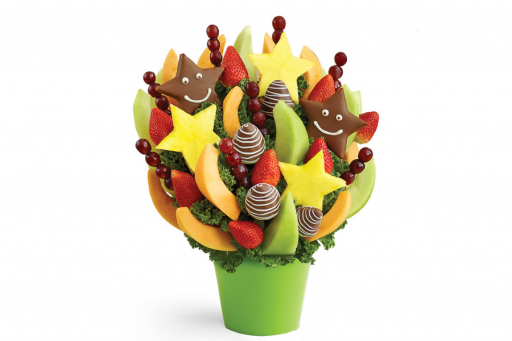 Fruit bouquet with chocolate covered fruit