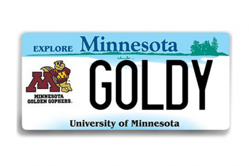 MN Golden Gophers License Plate