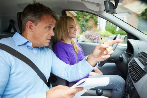 Drivers Ed Student and Instructor Behind-the-Wheel Lesson in Minneapolis