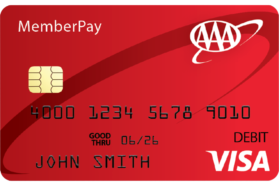 purchase card online image of the front of a aaa memberpay prepaid card - Purchase Prepaid Card Online