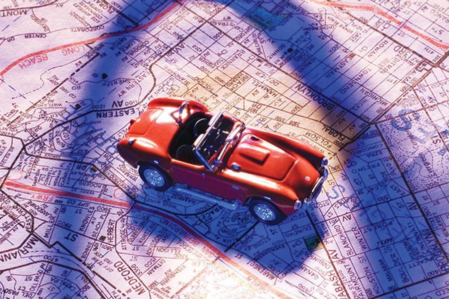 Car and Road Map